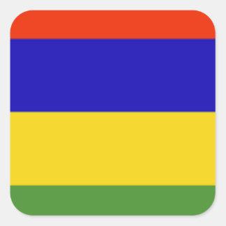 Bandeira de Maurícia Adesivo Em Forma Quadrada