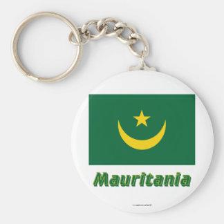 Bandeira de Mauritânia com nome Chaveiro