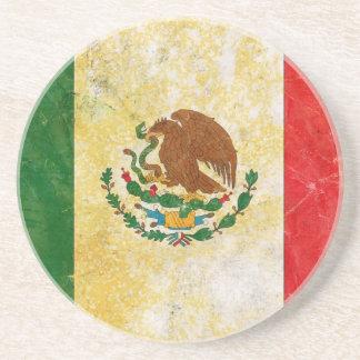 Bandeira de México no Grunge Porta Copos De Arenito