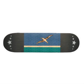 Bandeira de Midwayer do teste padrão do vintage Skate Boards