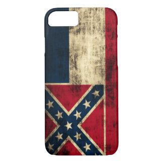 Bandeira de Mississippi do Grunge do vintage Capa iPhone 8/7