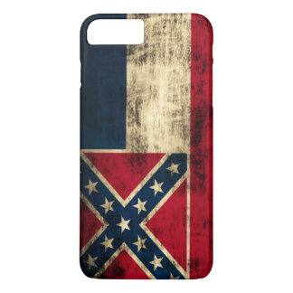 Bandeira de Mississippi do Grunge do vintage Capa iPhone 8 Plus/7 Plus