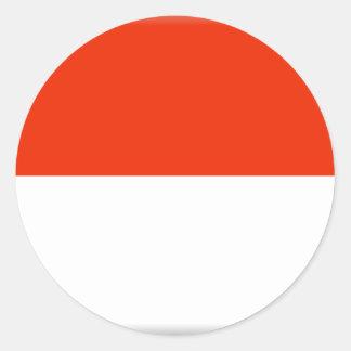 Bandeira de Monaco Adesivos Em Formato Redondos