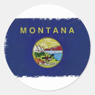 Bandeira de Montana Adesivos Redondos