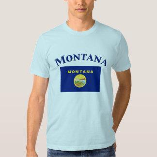 Bandeira de Montana T-shirts