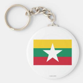 Bandeira de Myanmar Chaveiro