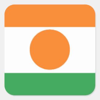 Bandeira de Niger Adesivo Quadrado