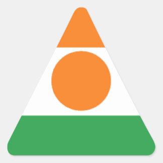 Bandeira de Niger Adesivos Em Forma De Triângulo
