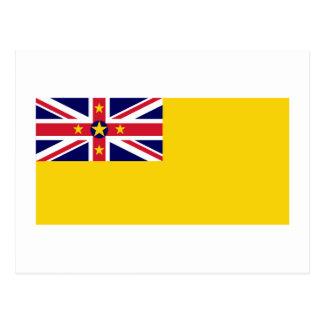 Bandeira de Niue Cartão Postal