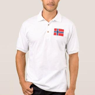 Bandeira de Noruega Camisa Polo