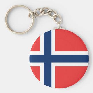 Bandeira de Noruega Chaveiro