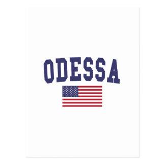 Bandeira de Odessa E.U. Cartão Postal