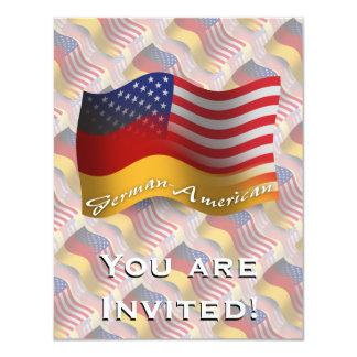Bandeira de ondulação Alemão-Americana Convite 10.79 X 13.97cm