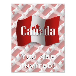 Bandeira de ondulação de Canadá Convite 10.79 X 13.97cm
