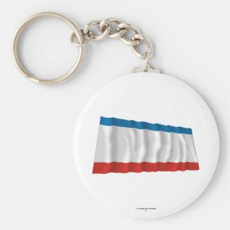 Bandeira de ondulação de Crimeia Chaveiro