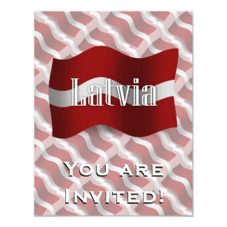 Bandeira de ondulação de Latvia Convite 10.79 X 13.97cm