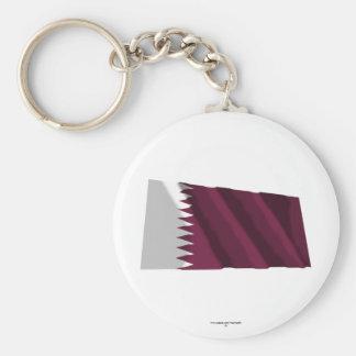 Bandeira de ondulação de Qatar Chaveiro