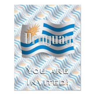 Bandeira de ondulação de Uruguai Convite 10.79 X 13.97cm