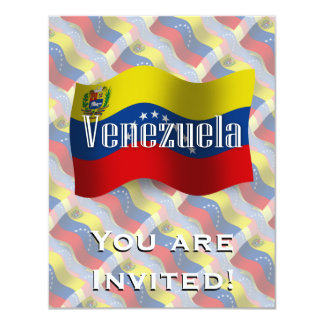 Bandeira de ondulação de Venezuela Convite 10.79 X 13.97cm