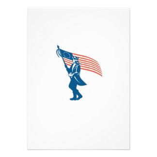 Bandeira de ondulação do soldado americano do convite