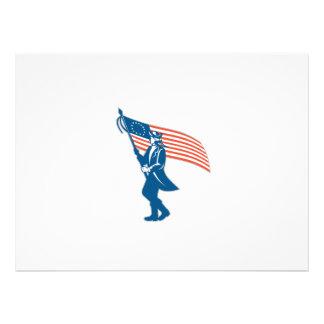 Bandeira de ondulação do soldado americano do convites personalizados