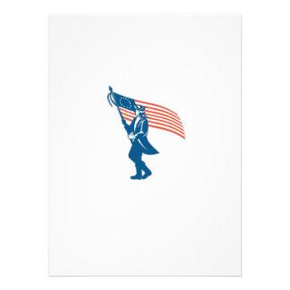 Bandeira de ondulação do soldado americano do convite personalizado