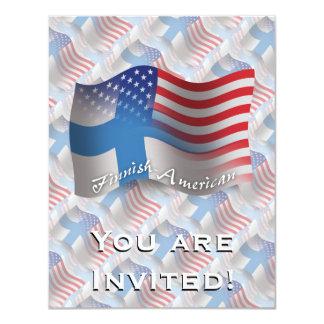 Bandeira de ondulação Finlandês-Americana Convite 10.79 X 13.97cm