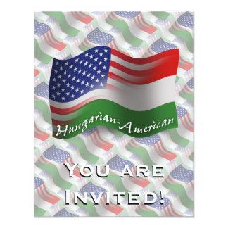 Bandeira de ondulação Húngaro-Americana Convite 10.79 X 13.97cm
