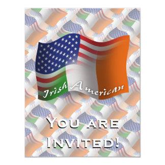 Bandeira de ondulação Irlandês-Americana Convite 10.79 X 13.97cm