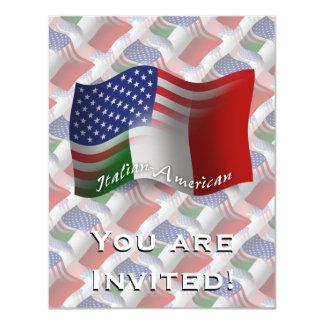 Bandeira de ondulação Italiano-Americana Convite 10.79 X 13.97cm