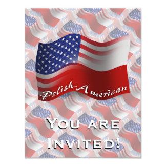 Bandeira de ondulação Polimento-Americana Convite 10.79 X 13.97cm