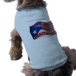 Bandeira de ondulação Rican-Americana de Puerto Camiseta Para Caes