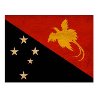 Bandeira de Papuá-Nova Guiné Cartão Postal