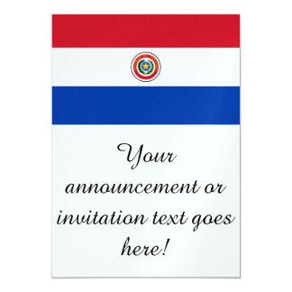 Bandeira de Paraguai Convite 12.7 X 17.78cm