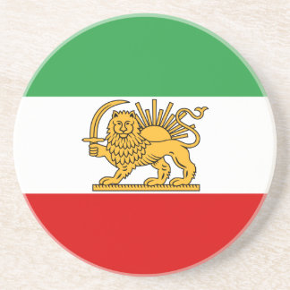 Bandeira de Persia/Irã (1964-1980) Porta-copos De Arenito