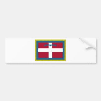 Bandeira de Piedmont (Italia) Adesivo Para Carro