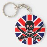 Bandeira de pirata BRITÂNICA Chaveiros