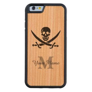 Bandeira de pirata personalizada do monograma capa de cereja bumper para iPhone 6