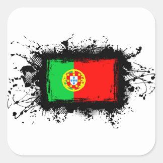 Bandeira de Portugal Adesivo Quadrado