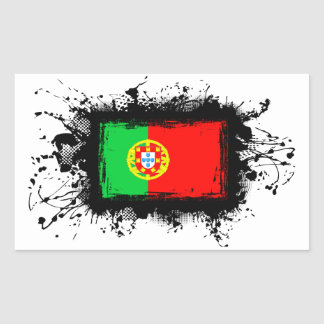 Bandeira de Portugal Adesivo Retangular