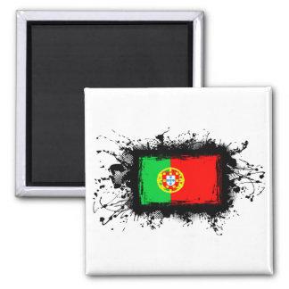 Bandeira de Portugal Ímã Quadrado