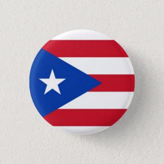 Bandeira de Puerto Rico Bóton Redondo 2.54cm