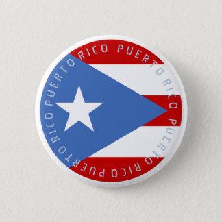 Bandeira de Puerto Rico Bóton Redondo 5.08cm