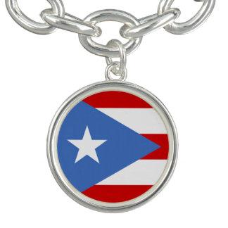 Bandeira de Puerto Rico Braceletes