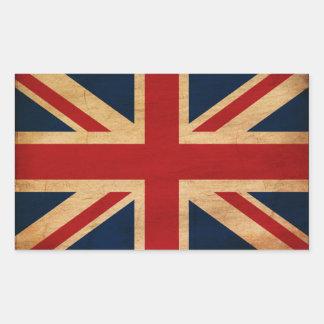 Bandeira de Reino Unido Adesivo Retangular