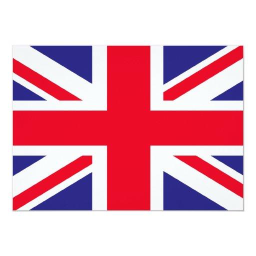 bandeira de Reino Unido Convite 12.7 X 17.78cm