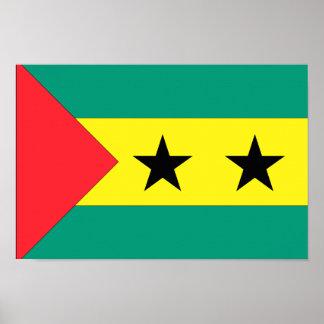 Bandeira de Sao Tome and Principe Pôster