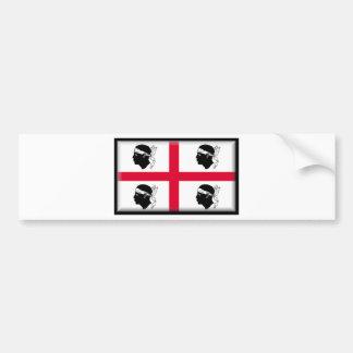 Bandeira de Sardinia (Italia) Adesivo Para Carro