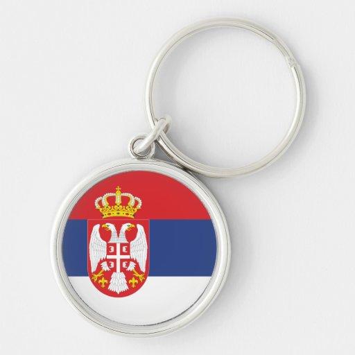 Bandeira de Serbia Chaveiro