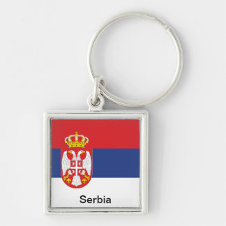 Bandeira de Serbia Chaveiros